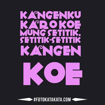 Gambar Kata Kangen Bahasa Jawa