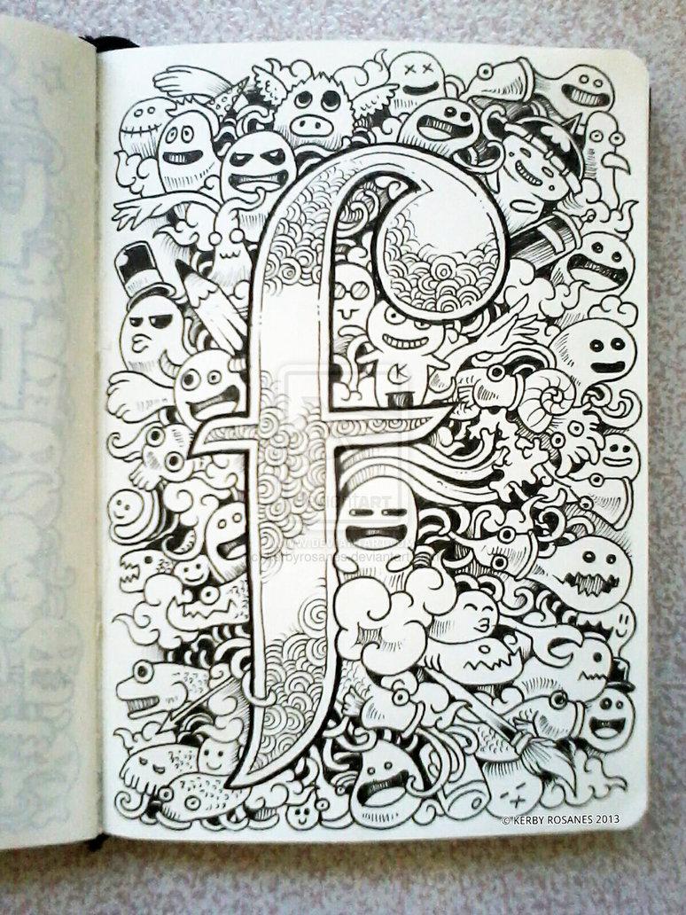 Gambar Doodle Art | Gambar Aneh Unik Lucu