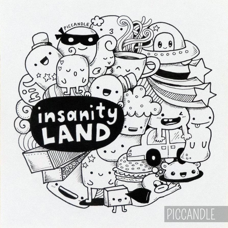 Gambar Doodle Sederhana Gambar Aneh Unik Lucu