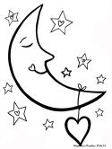 Gambar Mewarnai Bulan