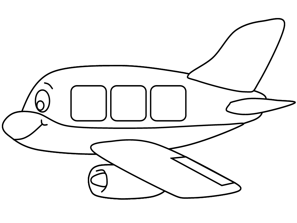 Картинки из раскраски самолёт