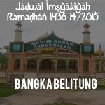 Jadwal Puasa Ramadhan Bangka Belitung