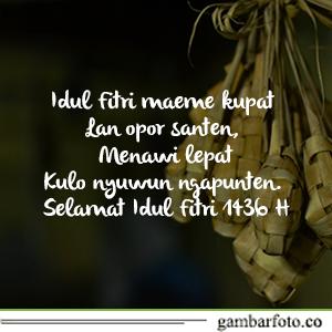Gambar Ucapan Idul Fitri Bahasa Jawa Aneh Unik Lucu
