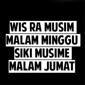 Dp Malam Minggu Bahasa Jawa