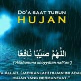 Doa Ketika Turun Hujan