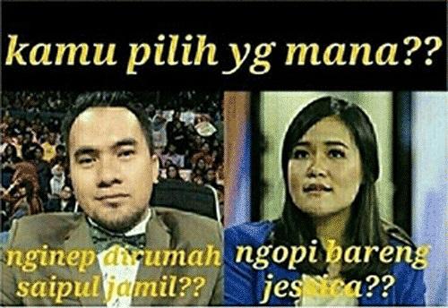 Meme Saipul Jamil dan Jessica Wongso