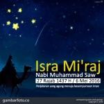 Gambar Peringatan Isra Mi'raj 2016